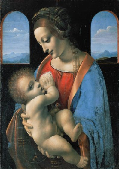 Da Vinci, Leonardo: The Litta Madonna, 1490. Fine Art Print/Poster. Sizes: A4/A3/A2/A1 (001896)